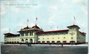 REDONDO, CA California    Redondo  Beach  BATH  HOUSE   1909   Postcard