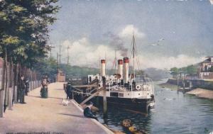 IPSWICH, England, 1900-1910's; Boat Landing & Promenade, TUCK # 7146