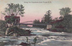 FONDA, New York, PU-1908; Along the Cayadutta bruk