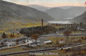Ireland, Co. Wicklow, Glendalough, Panorama, air view