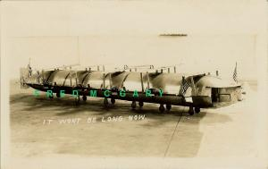 1927 Los Angeles CA RPPC: Freese Designed 5-Wing 10-Motor Airplane-Dirigible
