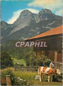 Postcard Modern Mittagfluh Holzerhorn uber und im Simmental Boltigen