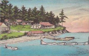 Washington East Sound Orcas sland Buckhorn Lodge Albertype