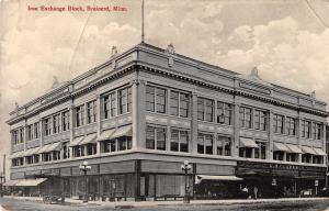 Brainerd Minnesota Iron Exchange Block Exterior Vintage Postcard JD933480