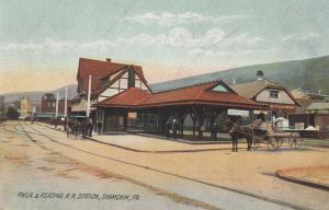 SHAMOKIN , Pennsylvania, 1900-10s; Philadelphia & Reading Railroad Station