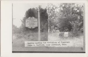 Ohio Real Photo RPPC Postcard CLEVELAND c1950 BIRTHPLACE JAMES GARFIELD Boulder