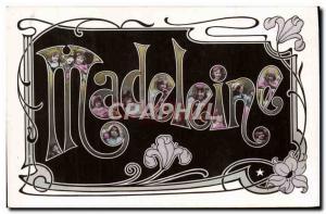 Old Postcard Fancy Madeleine Surname