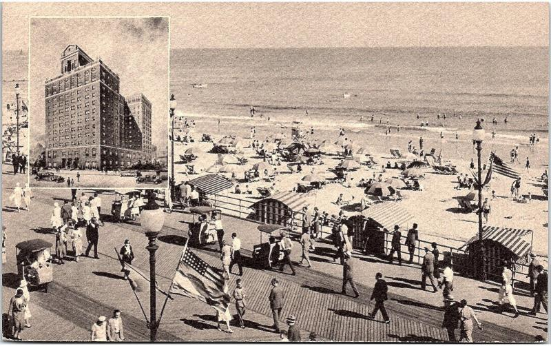 Postcard NJ Atlantic City The Madison Overlooking The Boardwalk And Ocean R1