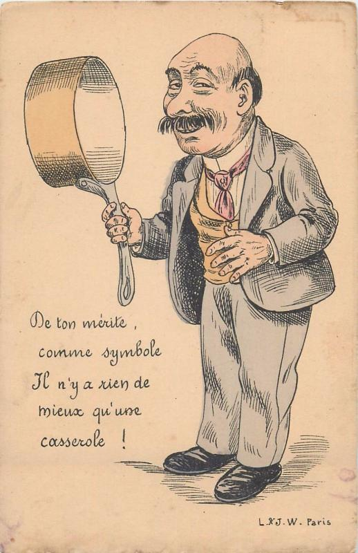 Vintage French Humour Postcards.