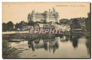 Old Postcard Pierrefonds Lake and Chateau