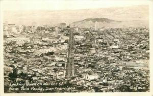 Aerial View Market Street San Francisco California 1920s Postcard 3128