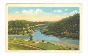 Junction Of Dick & Kentucky Rivers, At High Bridge, Kentucky, PU-1922