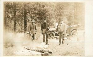 C-1910 Hunters Auto Shot Gun Camping RPPC real photo postcard 2396