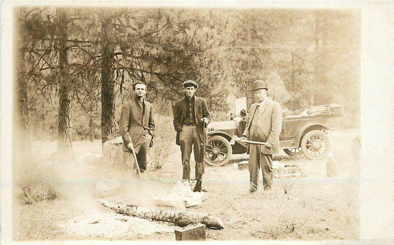 C-1910 Hunters Auto Shot Gun Camping RPPC real photo postcard 2396
