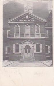 The Company Instituted Carpenters Hall 1724 Philadelphia Pennsylvania