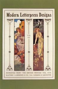 Nostalgia Postcard Art Nouveau Printers Panels, Graphic Design Repro Card N255