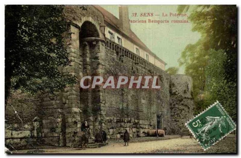 Old Postcard The Sense old Roman Walls Postern