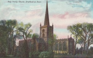 Stratford-upon-Avon, Warwickshire, England, 1906 ; Holy Trinity Church