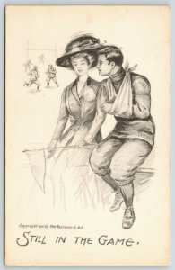 Artist~Injured Football Player Still in the Game~Lovely Lady~Pennant~Fairman