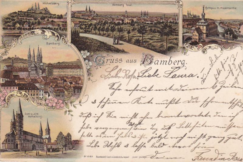 Gruss aus Bamberg , Germany , PU-1898