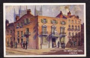 UK LINCOLN England White Hart Hotel Postcard