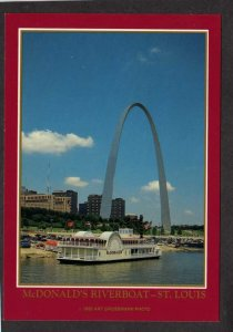 MO McDonalds Fast Food Riverboat Restaurant St Louis Missouri Postcard PC