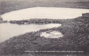 Aeroplane View Of Camp Shawnee Twin Lakes Pike County Pennsylvania Artvue