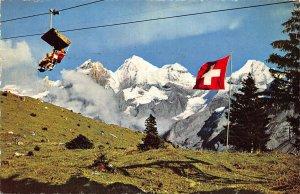 Switzerland Kandersteg Sesselbahn Kandersteg Oeschinen Blumlisalp Postcard