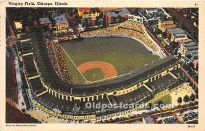 Wrigley Field, Home of the Chicago Cubs Chicago, Illinois, IL, USA 1958