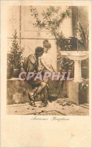 Postcard Old Lovers Pompeians