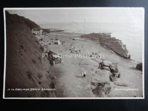 Devon EXMOUTH Orcombe Beach c1930 RP Postcard by Donlion Series 96.26