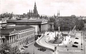 WIEN AUSTRIA PARLAMENT  & RATHAUS PHOTO POSTCARD 1957