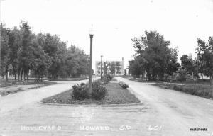 1940s Boulevard Howard South Dakota RPPC #651 Real photo postcard 8003 Cook