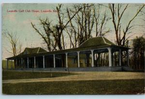 Postcard KY Louisville The Louisville Golf Club House 1912 Hagby Howe Drug C01
