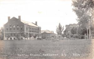 Aberdeen South Dakota~Normal School College Campus Buildings~Benches~1937 RPPC