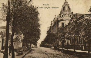 romania, BRǍILA, Emperor Trajan Street (1910s) Postcard