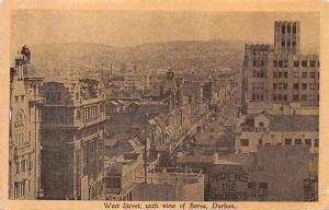 South Africa, West Street with view of Berea, Durban