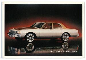 1980 Chevy Caprice Classic Sedan Postcard