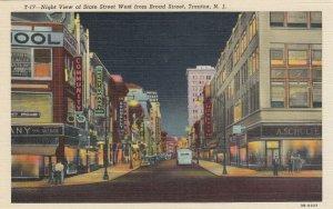 TRENTON , New Jersey , 30-40s; Main Street at Night