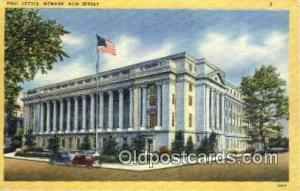 Newark, NJ USA,  Post Office Postcard, Postoffice Post Card Old Vintage Antiq...