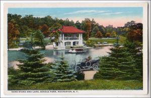Band Stand & Lake, Seneca Park, Rochester NY