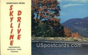 Shenandoah National Park - Skyline Drive, Virginia