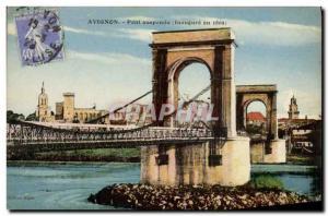 Old Postcard Suspension Bridge opens in 1809 Avignon