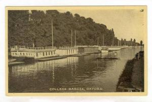 College Barges, Oxford, England, UK, 1900-10s