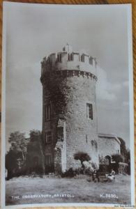 Bristol THE OBSERVATORY c1940 RP Postcard by Valentines H3630