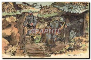Old Postcard Militaria In letters