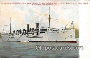 US Cruiser Philadelphia Philadelphia, PA Postcard Post Card Philadelphia, PA ...