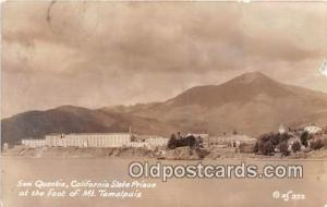 Real Photo - San Quentin, California State Prison Mt Tamalpais Prison Postcar...