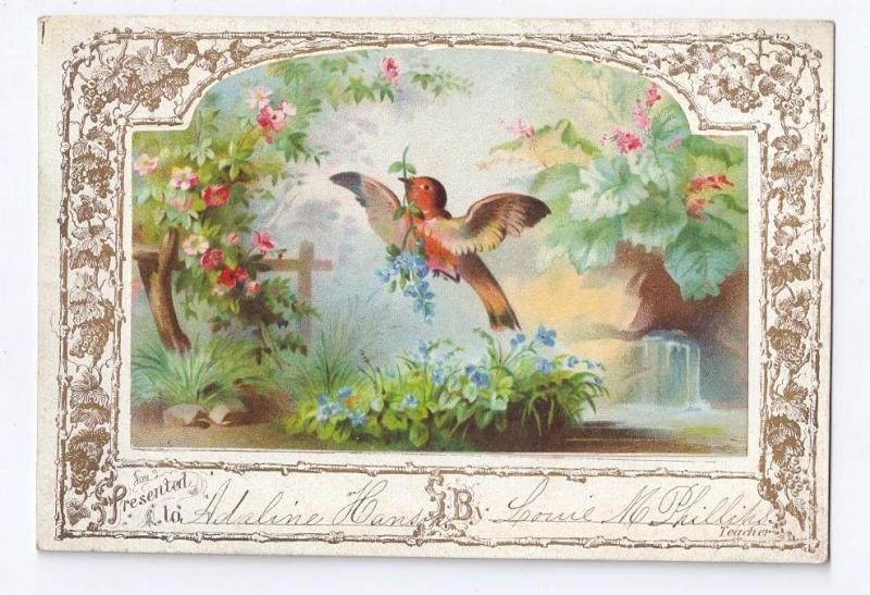 Victorian Chromo Reward Merit Card