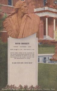 Memorial To David Crockett Court House Lown Trenton Tennessee
